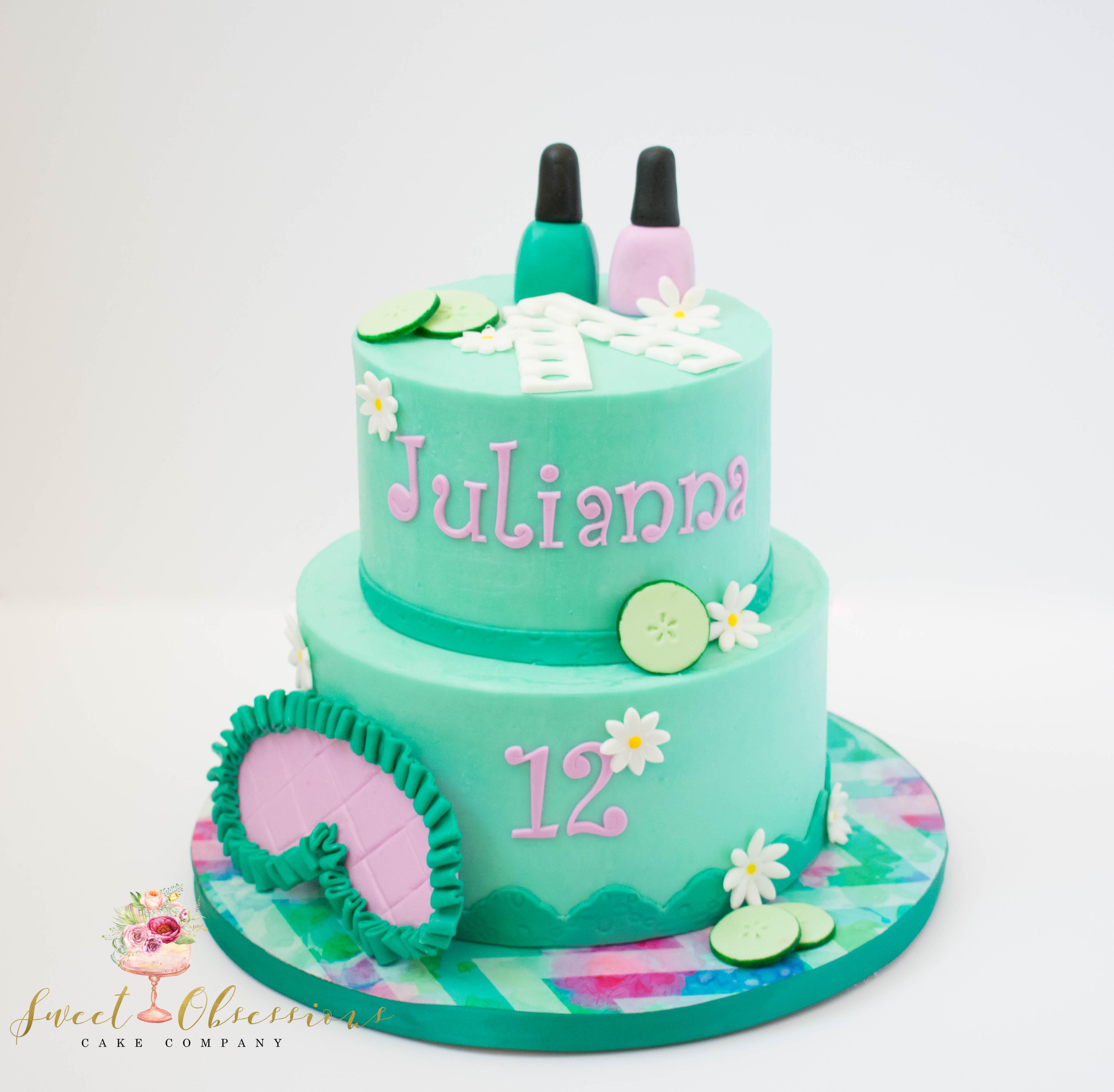 Spa Theme Cake