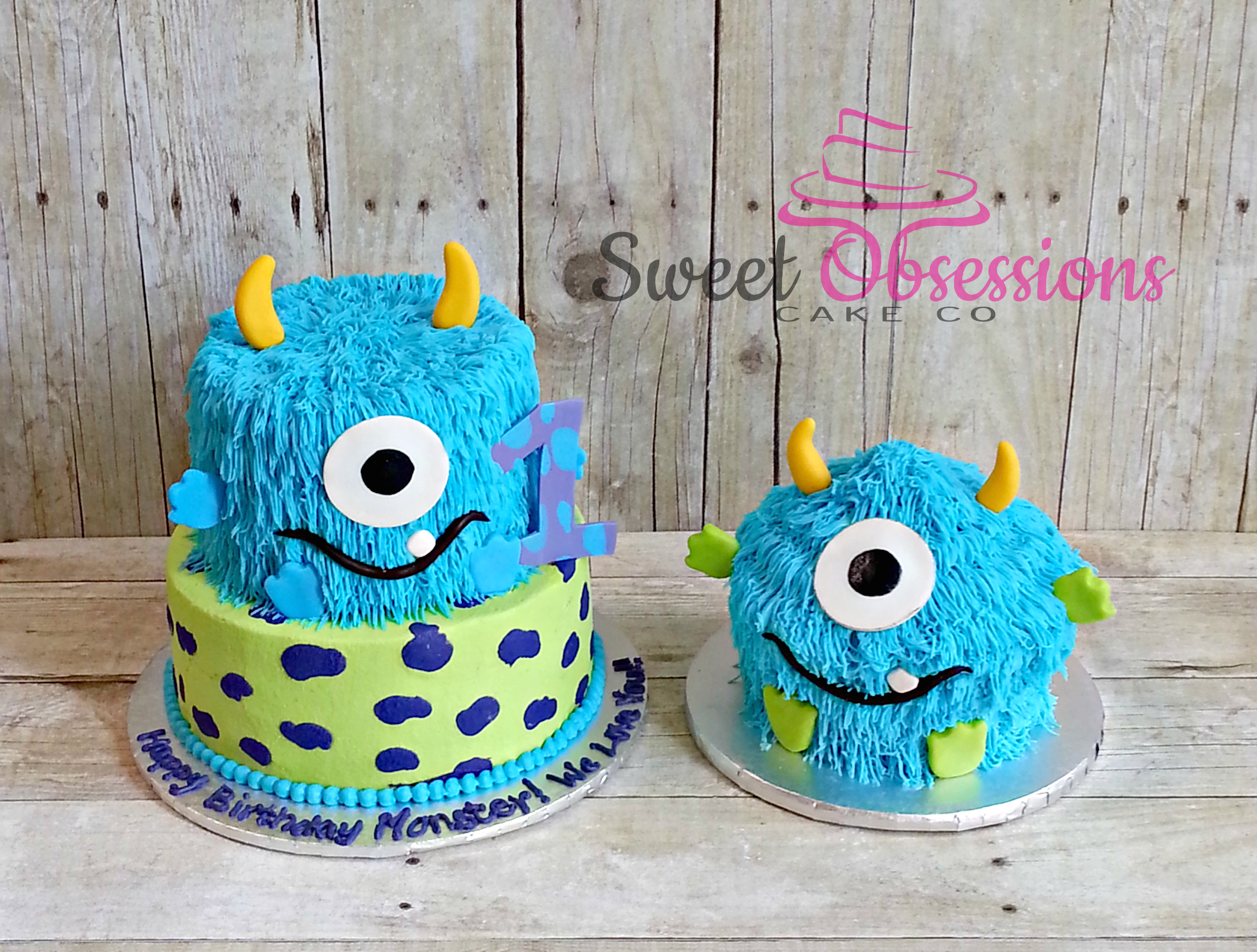 Monster First Birthday Cake