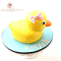 Rubber Ducky Smash Cake