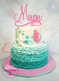 Mermaid Theme Cake
