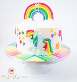 Rainbow Dash Theme Cake