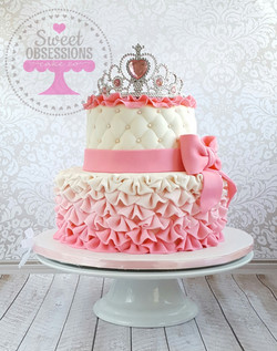 Pink ombre princess cake