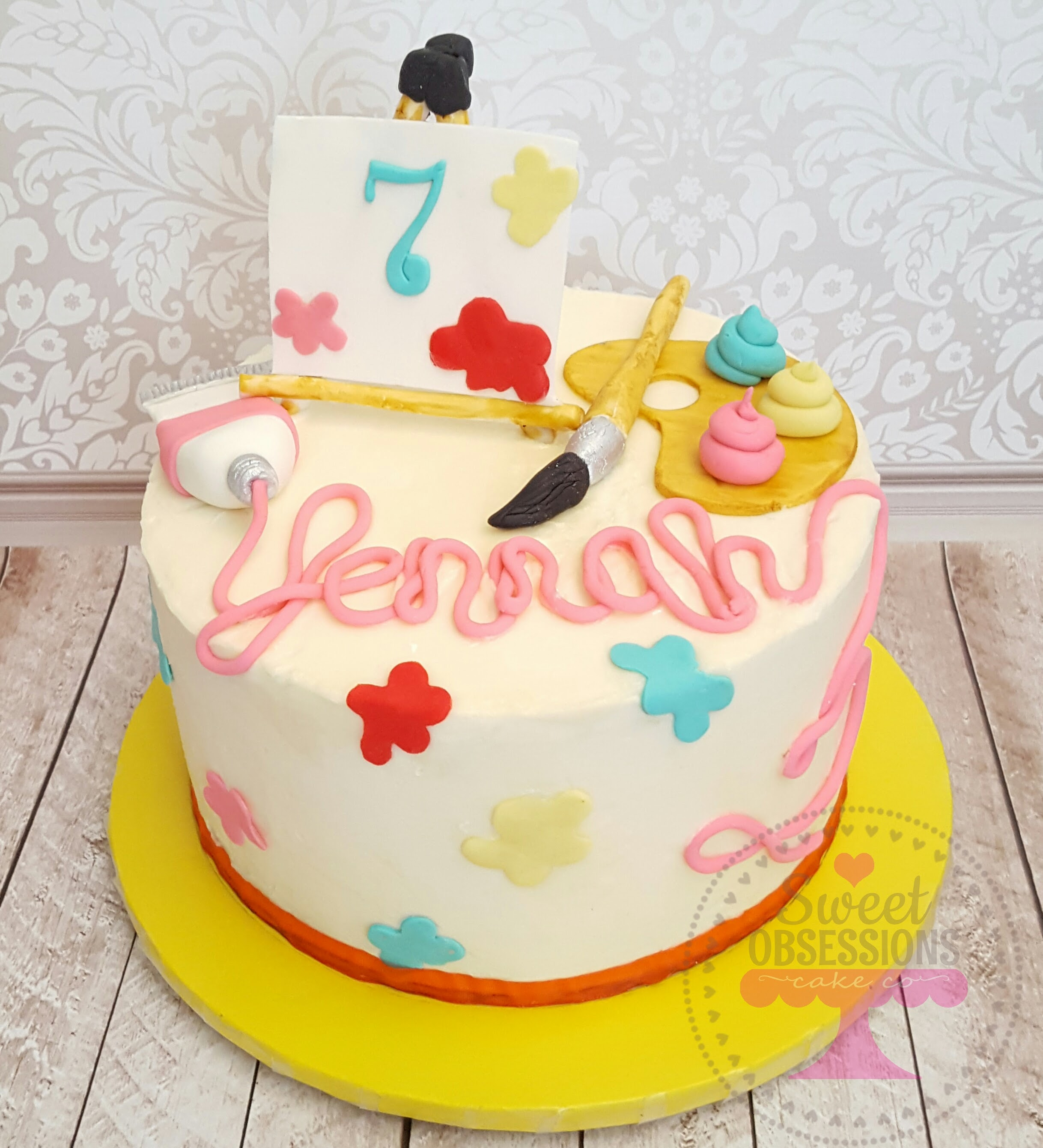 Art Theme Cake
