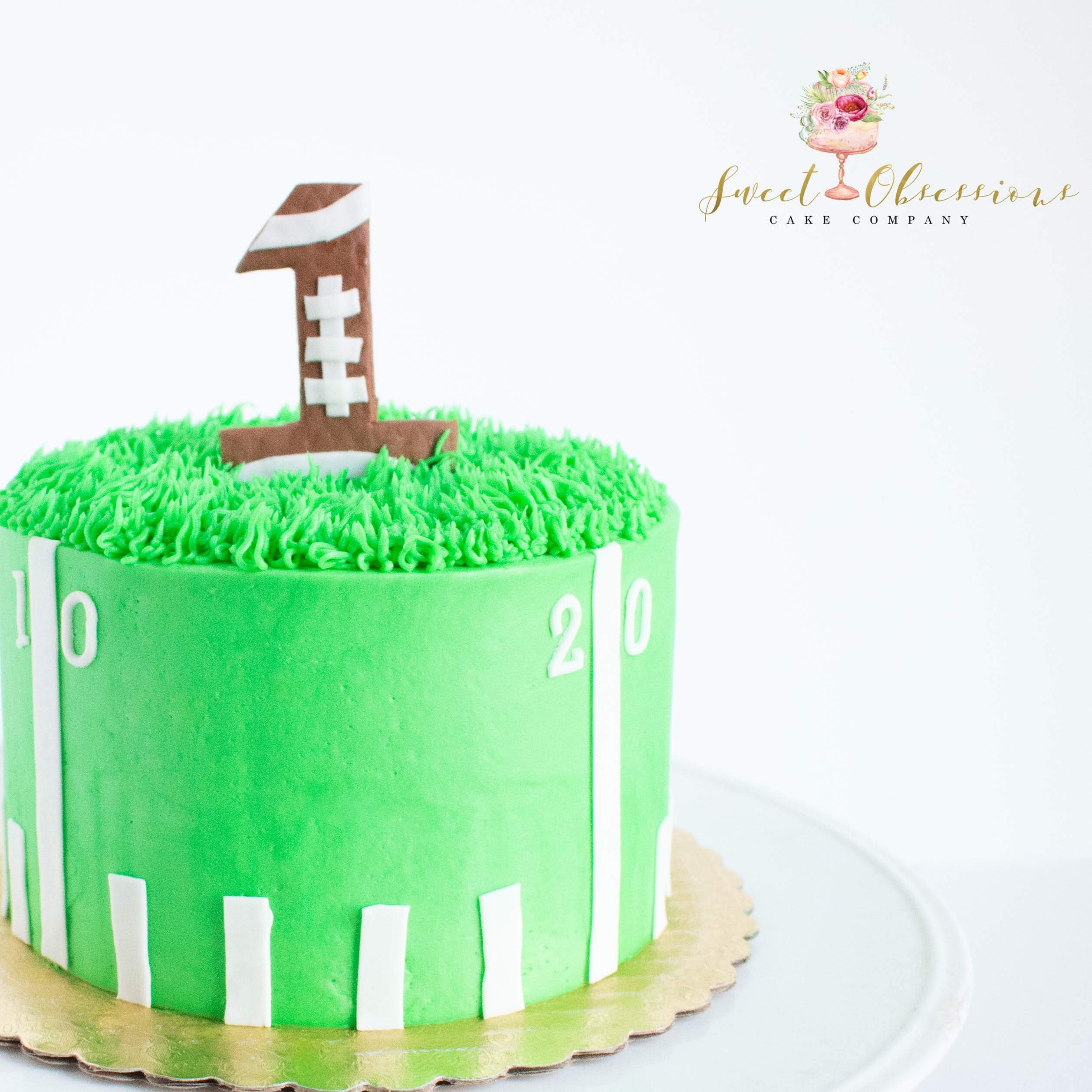 Football Theme Smash Cake