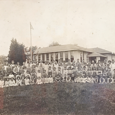 Photo scan taken from the Frank Kidd Collection on display in the office at the current Carpenters Middle School.