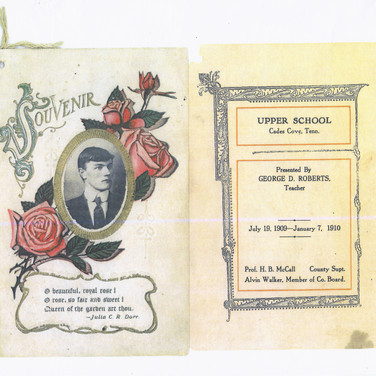 1909-1910 Upper School Program (outside)