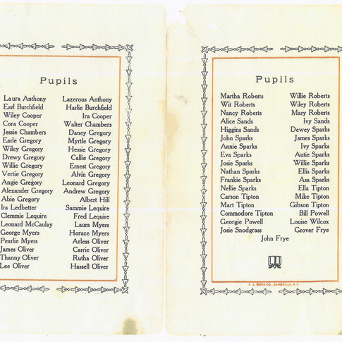1909-1910 Upper School Program (inside)