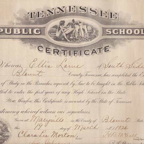 8th grade diploma