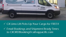 FREE PICKUP!!                                CATHAY PACIFIC CARGO!!