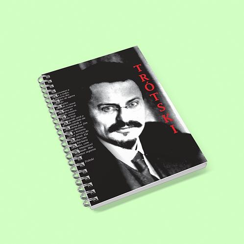 Caderno universitário - Linha Trotski frases