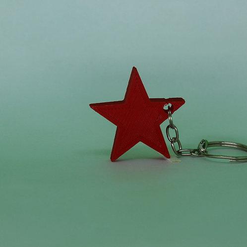 Chaveiro estrela foice e martelo