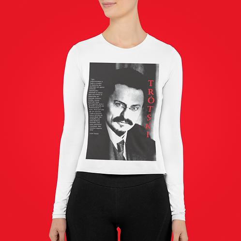 Camiseta De Manga Comprida - Linha Trotski frase
