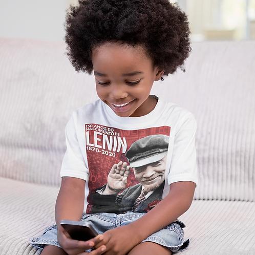 Camiseta Infantil Manga Curta -    Lenin 150 anos