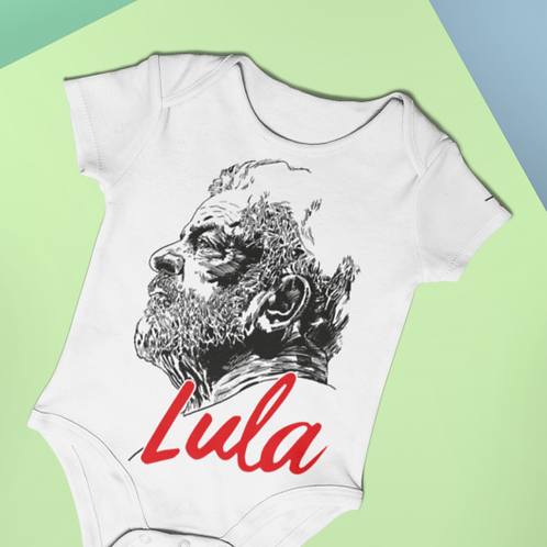 Body Curto Bebê - Linha Lula Arte João Pinheiro
