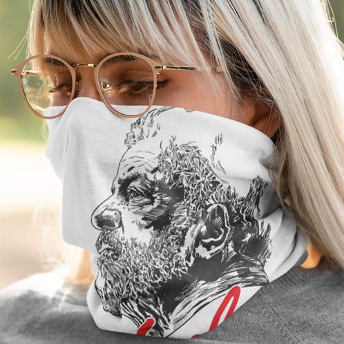 Máscara Bandana - Linha Lula Arte João Pinheiro