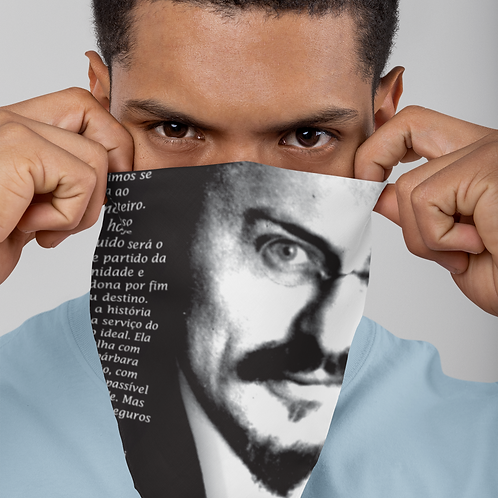 Máscara Bandana - Linha Trotski frases