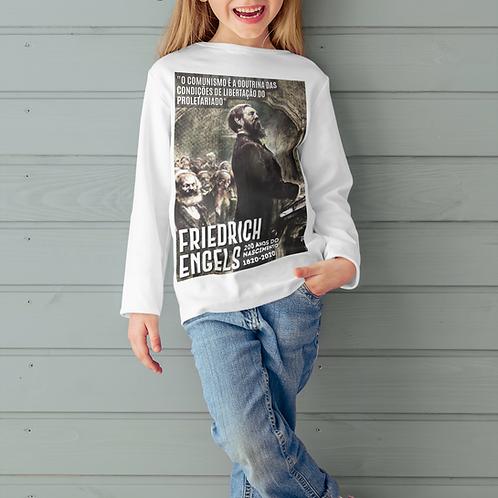 Camiseta Infantil Manga Longa -    Linha 200 anos Engels
