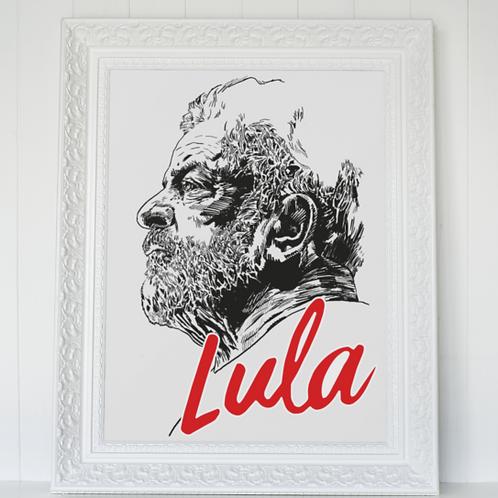 Poster Emoldurado - Linha Lula Arte João Pinheiro