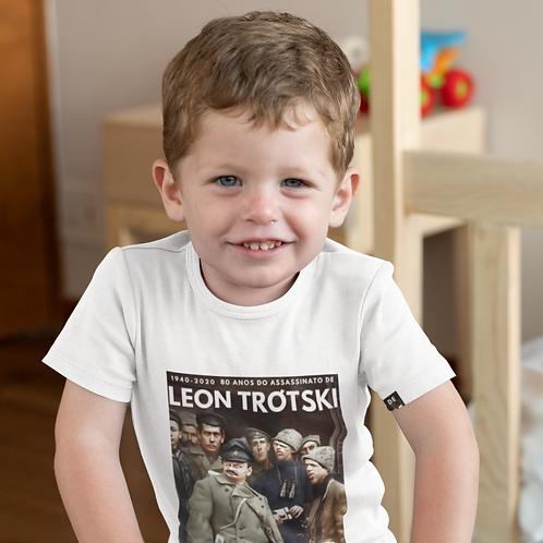 Camiseta Infantil Manga Curta -    Linha Trótski 80 anos do assassinato