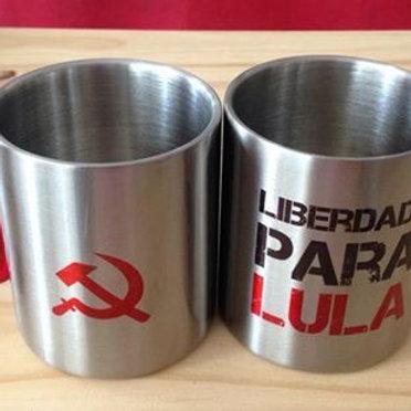 Caneca mosquetão Liberdade para Lula