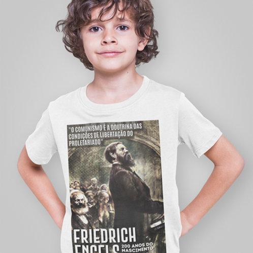 Camiseta Infantil Manga Curta -    Linha 200 anos Engels
