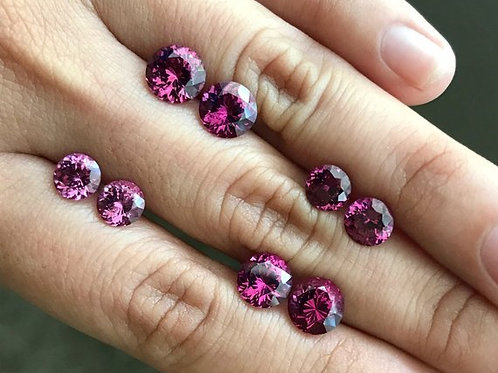 Mahenge Purple Garnet Round Pairs - 1.97 cts, 2.23 cts, 3.51 cts, 3.93 cts