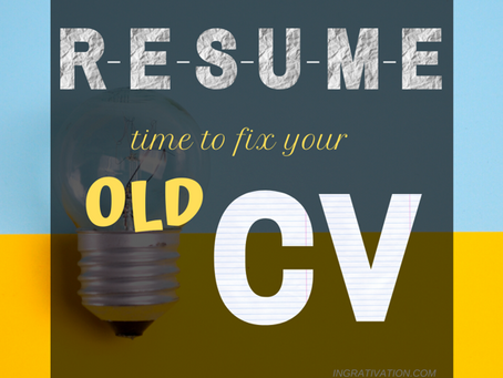 Put an ID to your CV! #MarieKondo: Resume Edition