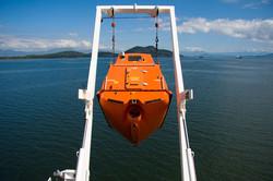 Free-fall-lifeboat-on-Davit