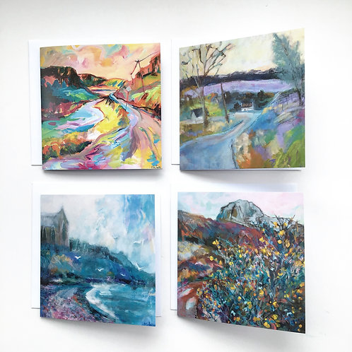 Anna Malyon Fine Art Greeting Card packs- 4 cards per pack.