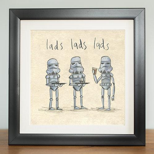 Lads lads lads - digital print