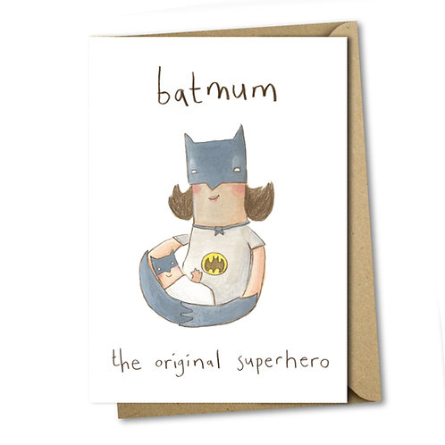 Batmum - Greeting Card
