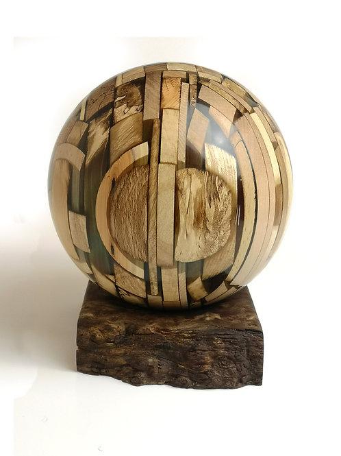 Wood Strip Sphere