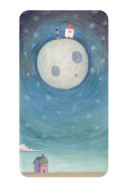 To the moon - digital print