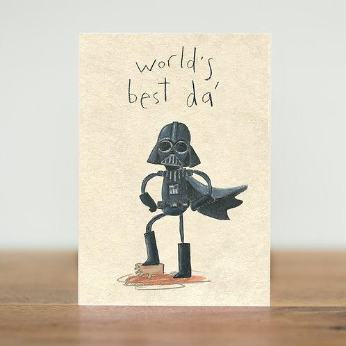 World's best da - Greeting card