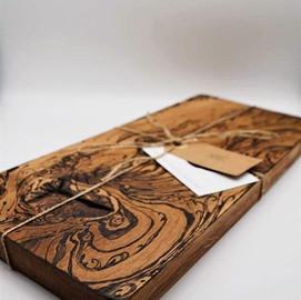 New oak cheese board with free hand burn