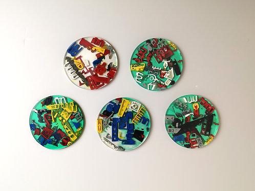 Resin Lego Coasters