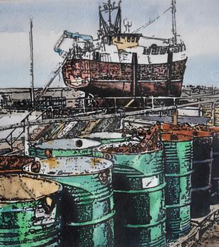 Madeleine Davenport  Buckie boatyard stu