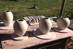Urns drying