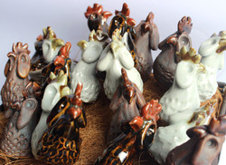 Chickens for potplants