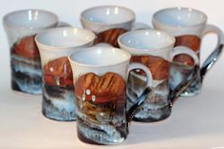 Large Mugs in Bushfire colours