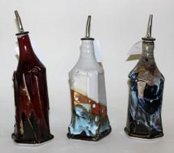 Three 'drunken' bottles