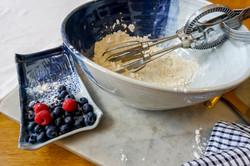 Stylish baking in Ocean blue