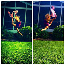 Nothing like dancing under the summer sun ☀️ Happy Monday! #dance #firebird #ring #capezio #leaps #f