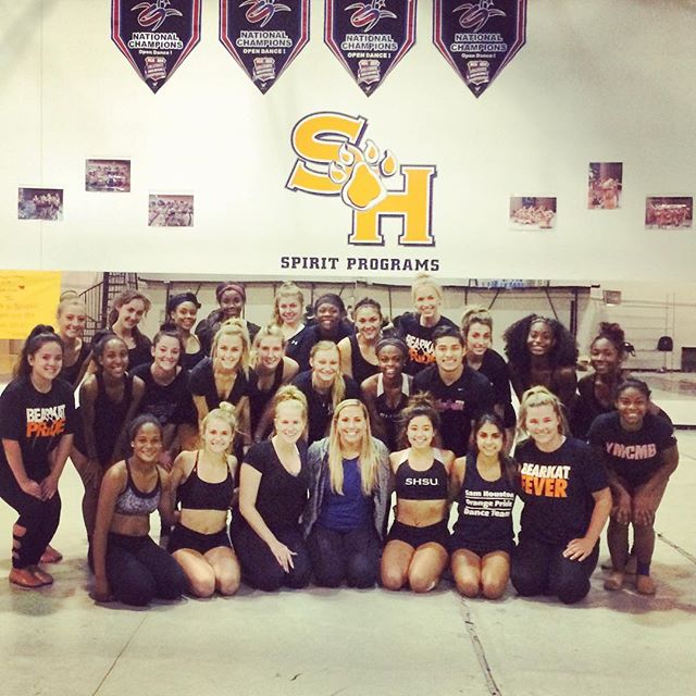 So lucky to be able to work with _orangepridedance this weekend on their fierce nationals routine!