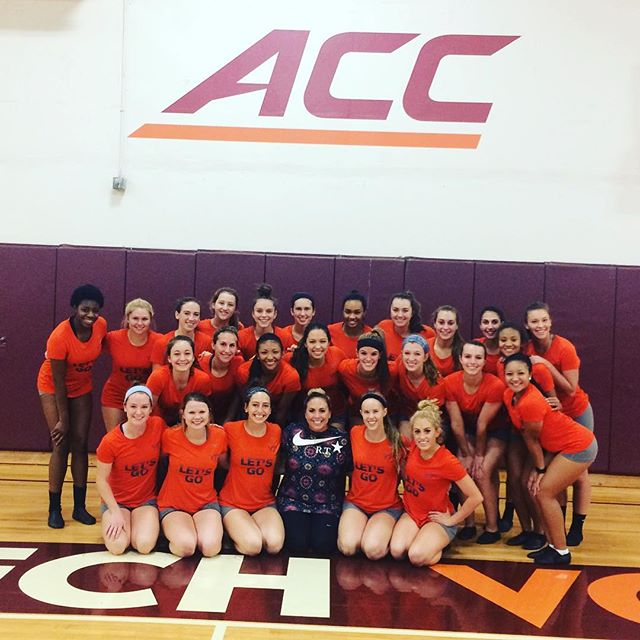 Lived for working with Virginia Tech's talented Dance Team this weekend on their nationals routine!