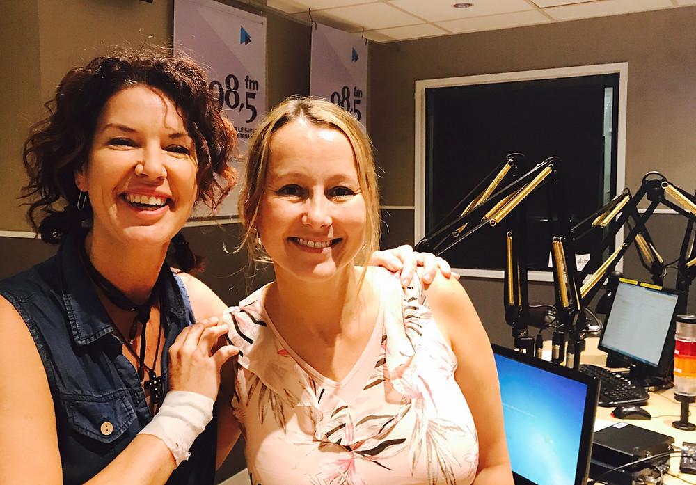 Majoly Dion en studio avec Catherine Brisson