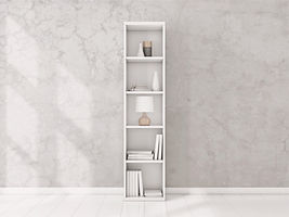White Bookshelf, cabinet,