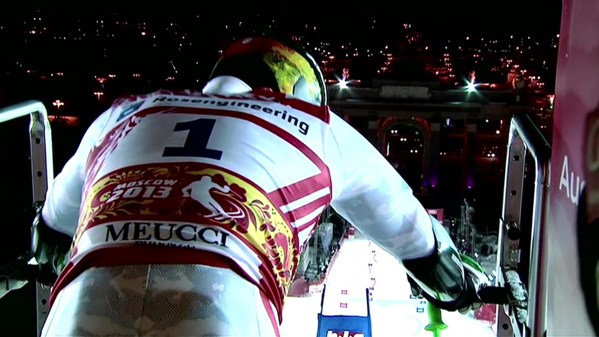 Ski Racing   INSPECTING A RACE COURSE