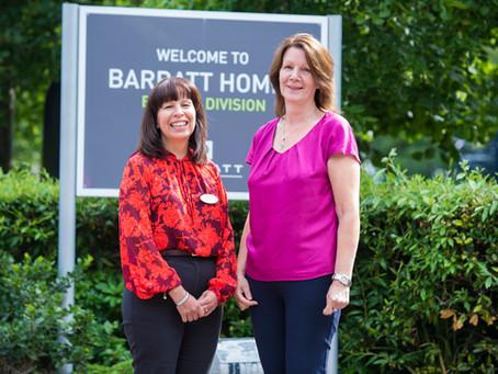 Barratt Homes donates £1,000 to Brain Tumour Support