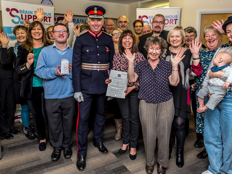 The Queen's Lord Lieutenant visits Brain Tumour Support